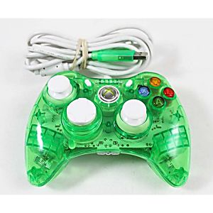 xbox 360 green rock candy wired controller