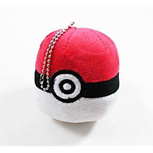 Plush Poke Ball Pendant Key Chain - RED