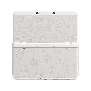 Nintendo 3DS System - New Model - Super Mario White Edition (Discounted)