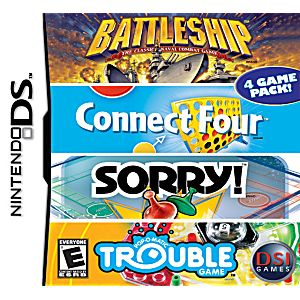 Battleship Connect Four Sorry Trouble DS Game