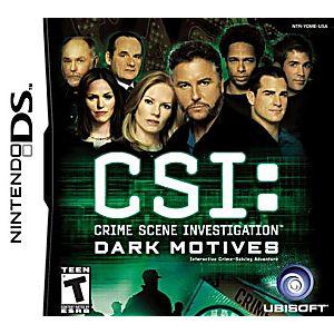 CSI Dark Motives DS Game
