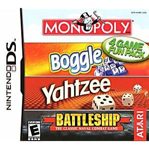 Monopoly / Boggle / Yahtzee / Battleship DS Game