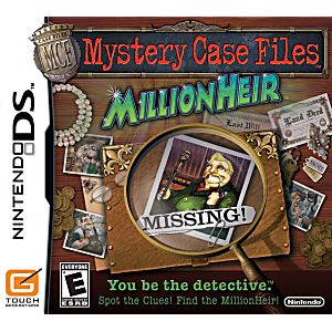 Mystery Case Files MillionHeir DS Game