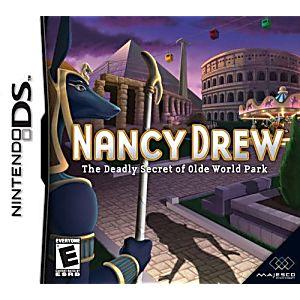 Nancy Drew The Deadly Secret of Old World Park DS Game