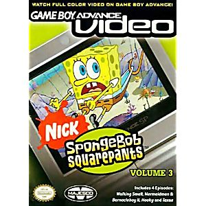 GBA Video Sponge Bob Square Pants Volume 3