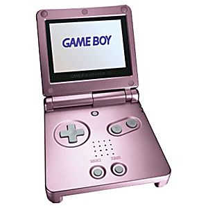 Pearl Pink Game Boy Advance SP System