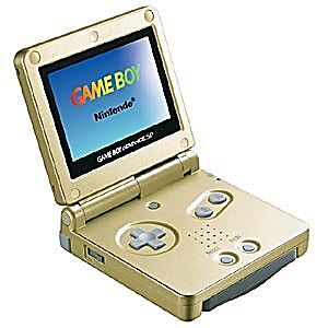 Starlight Gold Game Boy Advance SP System