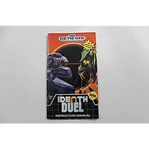 Manual - Death Duel - Sega Genesis