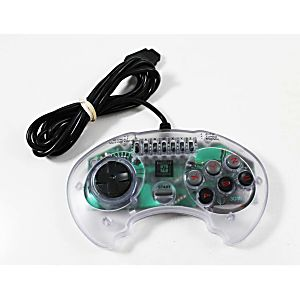 Sega Genesis High Frequency 6 Button Clear Turbo Controller