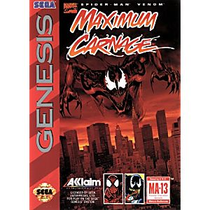 Spider Man Maximum Carnage Sega Genesis