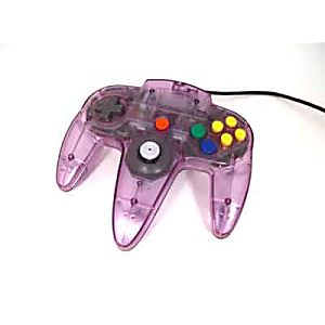 original nintendo 64 n64 atomic purple controller used
