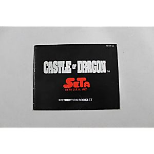 Manual - Nes_Castle_Of_Dragon