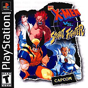 X Men Vs Street Fighter Sony Playstation