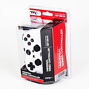 PS3 Wired White USB Controller