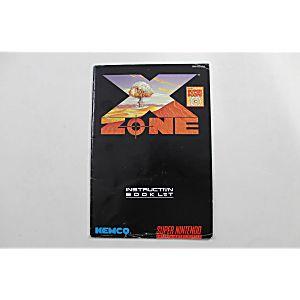 Manual - X-Zone - Snes Super Nintendo