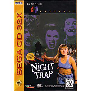 NIGHT TRAP - SEGA GENESIS CD 32X GAME