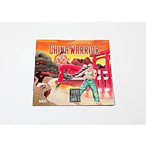 Manual - China Warrior - TurboGrafx 16