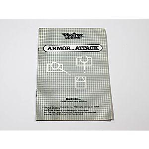 Manual - Armor Attack - Vectrex