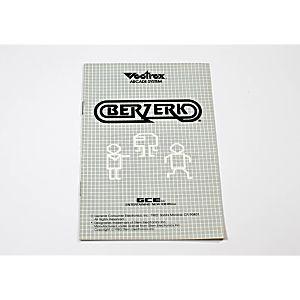 Manual - Berzerk - Vectrex
