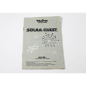 Manual - Solar Quest - Vectrex