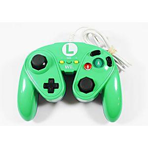 Nintendo Wii U Luigi Green/Blue Wired Fight Pad Controller
