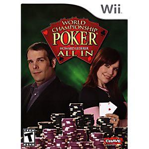 Wii world championship poker all in world series of poker barstool
