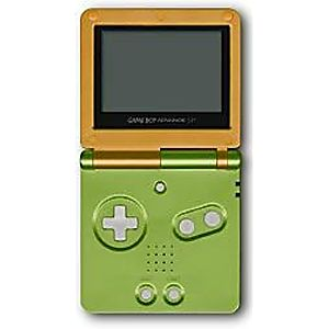 Used Orange-Lime Game Boy Advance SP System - Discounted