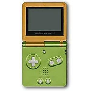 orange and lime gameboy advance sp system