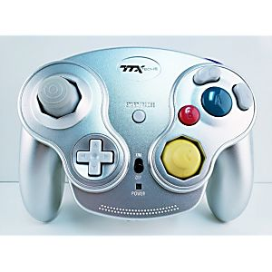 Wavedash Gamecube Wireless Controller (Silver)