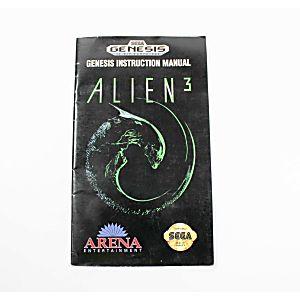 Manual - Alien 3 - Sega Genesis