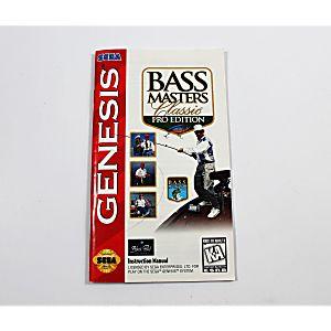 Manual - Bass Masters Classic Pro - Sega Genesis