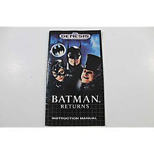 Manual - Batman Returns - Sega Genesis