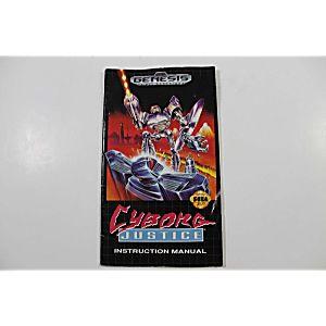Manual - Cyborg Justice - Sega Genesis