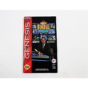 Manual - Espn Baseball Tonight - Sega Genesis