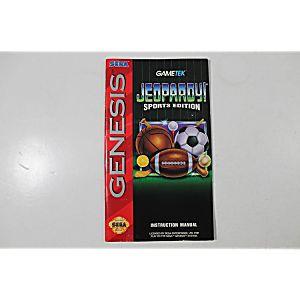 Manual - Jeopardy Sports Edition - Sega Genesis