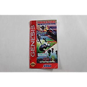 Manual - Triple Score - Sega Genesis