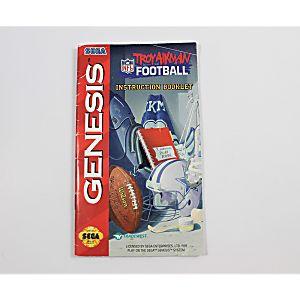 Manual - Troy Aikman Nfl Football - Sega Genesis