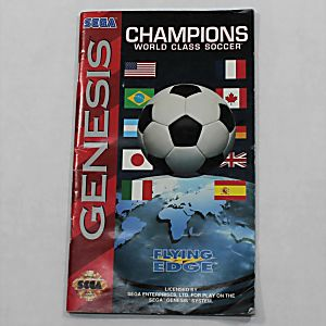 Manual - Champions World Class Soccer - Sega Genesis