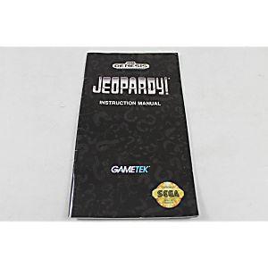 Manual - Jeopardy - Sega Genesis