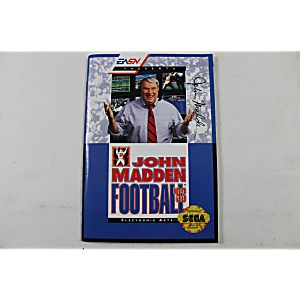 Manual - John Madden Football '93 - Sega Genesis