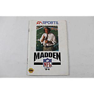 Manual - Madden Nfl '94 - Sega Genesis
