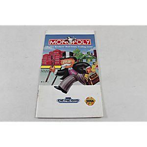 Manual - Monopoly - Sega Genesis