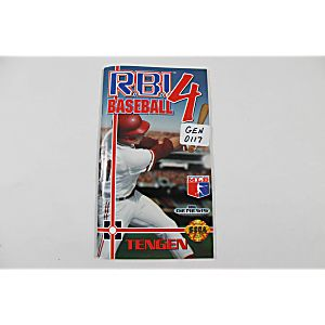 Manual - Rbi Baseball 4 - Sega Genesis