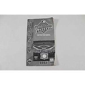 Manual - World Series Baseball - Sega Genesis