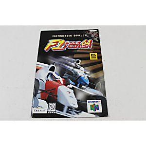 Manual - F1 Pole Position - Nintendo N64