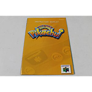 Manual - Hey You Pikachu With Vru - Nintendo N64