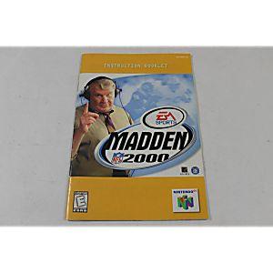 Manual - Madden 2000 - Nintendo N64 Football