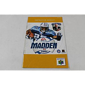 Manual - Madden 2001 - Nintendo N64 Football