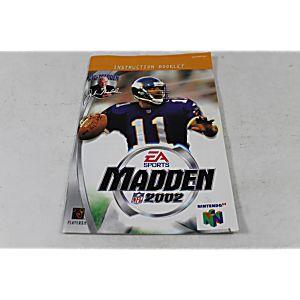 Manual - Madden 2002 - Nintendo N64 Football