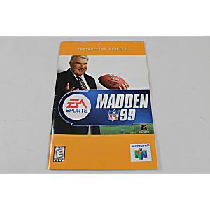 Manual - Madden Nfl 99 - Nintendo N64 Football